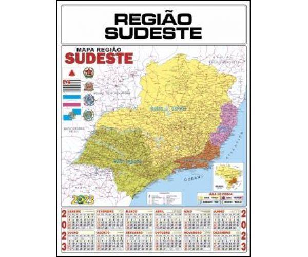 CALENDÁRIO MAPA REGIÃO SUDESTE